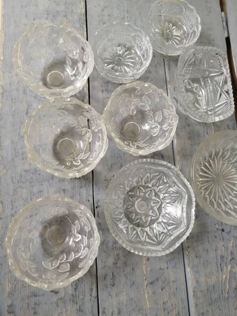 Стеклянная посуда, пиалы, тарелки