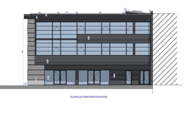 Powierzchnie biurowo-usług w nowym budynku 255m2-885m2, parter parking