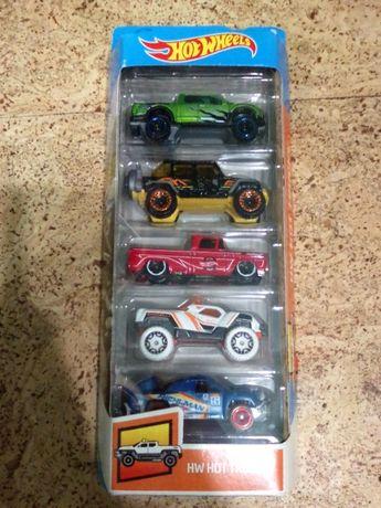 Hot wheels набор из 5 машинок, оригинал Mattel, пикапы