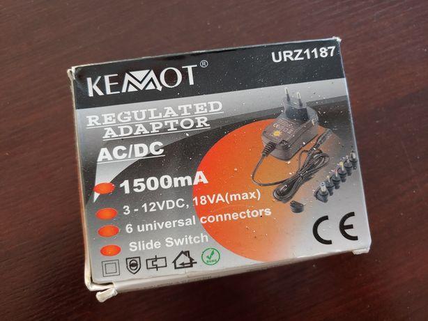 Zasilacz stabilizowany z regulacją 1500mA Kemot