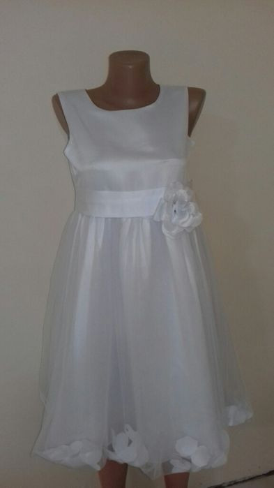 Белое  платье для девочки Красный Лиман - изображение 1