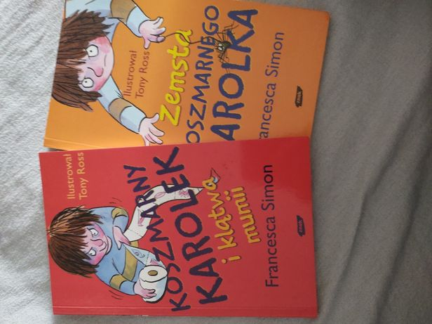 "2 książki ""Koszmarny Karolek"""