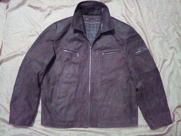 Бренд Angelo Litrico мото-куртка кожаная пилот бомбер размер L-XL