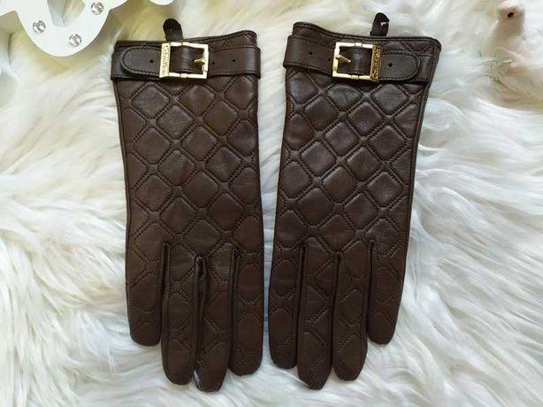 Calvin klein женские мягкие коричневые кожаные перчатки. оригинал!