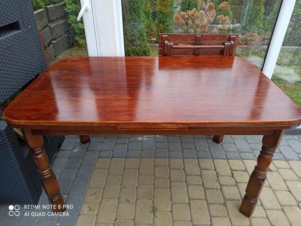 Dębowy stół rozkładany + krzesła
