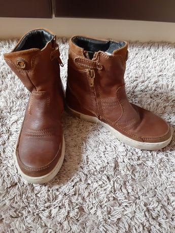 Фирменные кожаные ботинки р.32