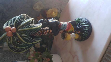 Arte Africana - Estatueta - peça em loiça