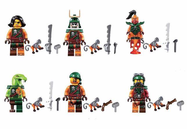 NINJAGO figurki PIRACI z małpkami  - 6szt. kompatybilne z lego