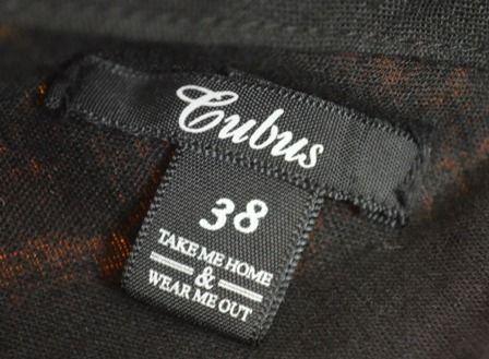 spódnica czarna, bawełniana, wiązana na pasek w pasie, 38, Cubus