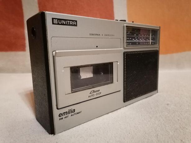 Radiomagnetofon Unitra Emilia z opcją nagrywania stan dobry