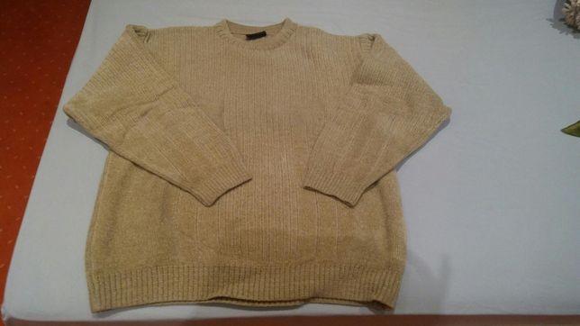 Sweter męski L nowy wełna w składzie sweterek
