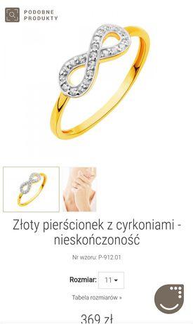 Sprzedam pierścionek Apart z symbolem nieskończoności. R 15