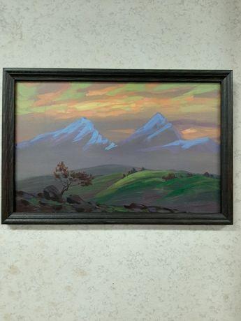"""Осенний вечер в горах"", картина."