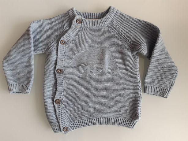 Sweter Luplilu r 74/80 (6-12 m-cy) Jak NOWY 100% bawełna