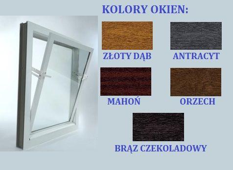 Okna inwentarskie dwuszybowe-SZEROKI WYBÓR, kolory- okno z PCV uchylne