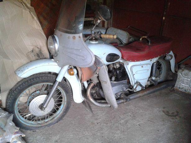 Мотоцикл ИЖ-56, 1960 р, з причепом-коляскою + документи.