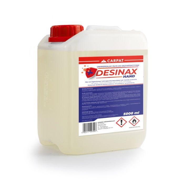 Płyn 5L do DEZYNFEKCJI RĄK 70% alkoholu apteczny DESINAX HAND Dąbrówki - image 1