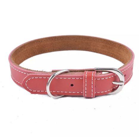 Skórzana obroża dla małego psa XS czerwona york chihuahua