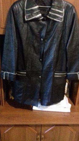 Продам кожаную женскую куртку розмер XXl