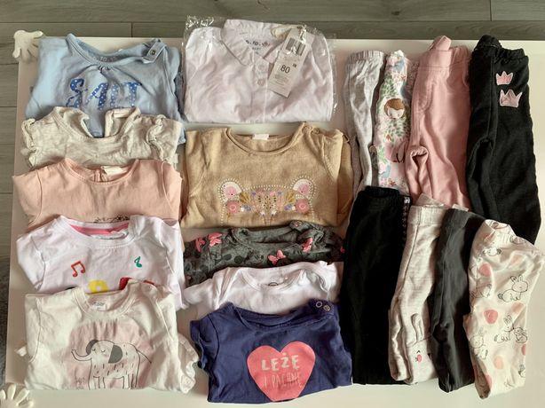 Ubranka dla dziewczynki r.80