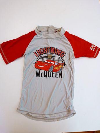 Koszulka kąpielowa 116. Koszulka do pływania cars auta ZygZak McQueen