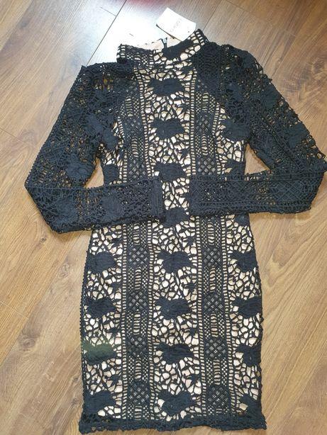 Nowa koronkowa sukienka S 36