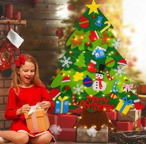 Árvores de Natal em feltro para crianças