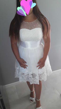 Krótka sukienka na ślub, poprawiny