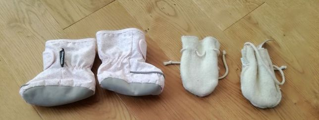 Janus skarpetki wełniane rękawiczki Paputki do wózka chusty H&M