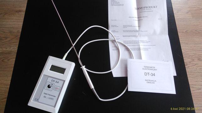 Termometr szpilkowy, elektroniczny ze świadectwem wzorcowania.