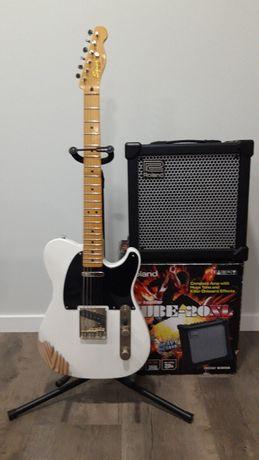 guitarra Squier classic vibe + roland cube 20 xl