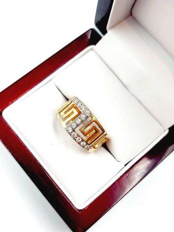 Nieużywany złoty Pierścionek Pr: 585 Waga: 4,64 G R.18 Plus Lombard