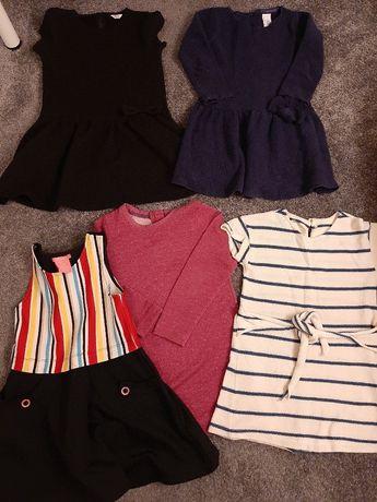Zestaw firmowych sukienek dla 6 latki roz 116
