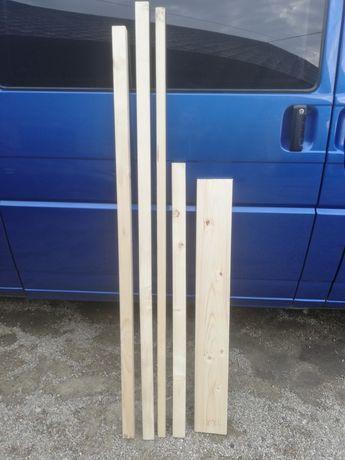 Kantówka kantówki legar suche strugane drewno świerkowe
