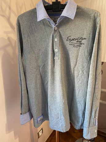 Longsleeve Espirit Peek & Cloppenburg L szara bluzka z długim rękawem