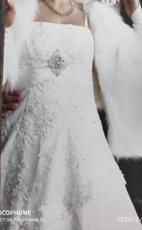 Sukienk,Suknia ślubna 36 /38,halka na kole, rękawiczki.