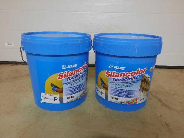 Tynk silikonowy Silancolor Tonachino 1126 brazowy ziarno 1.5