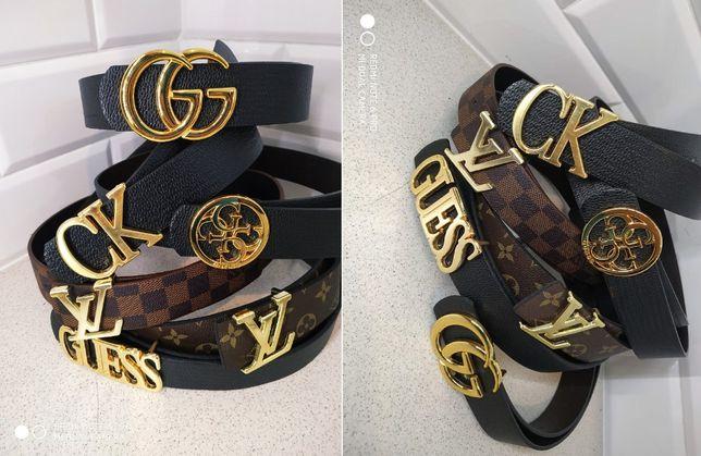 Gucci Pasek Calvin Klein klamra Guess Unisex Luis Vuitton