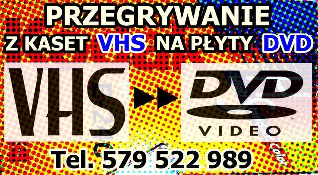 Przegrywanie z kaset wideo S-VHS-C 8mm Mini DV na płyty DVD dysk PC