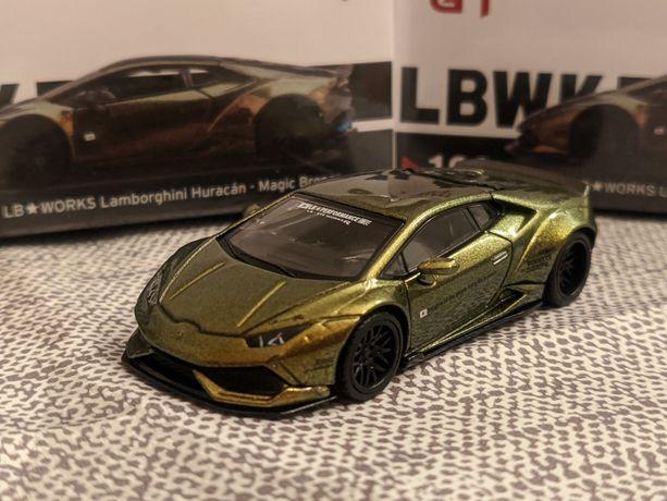 1:64 Lamborghini Huracan LB Lbwk liberty walk mini gt,igual Hot wheels