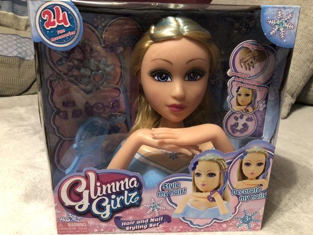 Popiersie głowa lalki fryzury biżuteria paznokcie