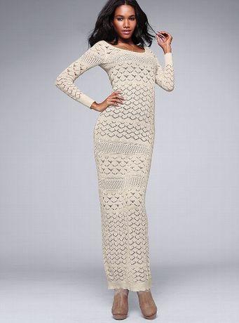 Красивое вязаное платье из коллекции victoria's secret р. М