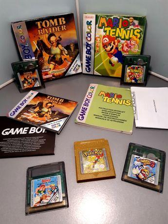 Jogos para o Game Boy Color/GBC: Mario Tennis, Tomb Raider, Wario Land