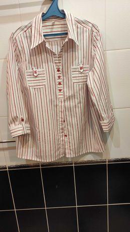 Женская блуза рубашка хлопок с рукавом 3/4  на р.54/EUR 46