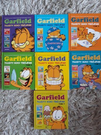 Garfield. Tłusty koci trójpak. Tomy 1-7 Stan idealny