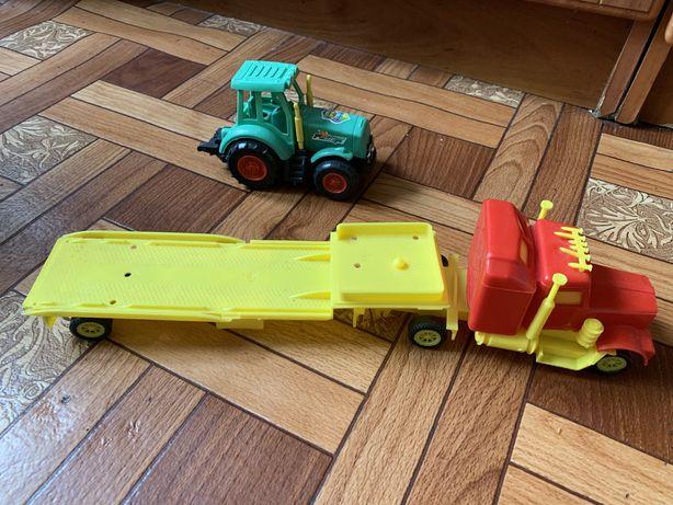 Машинки трактор и фура