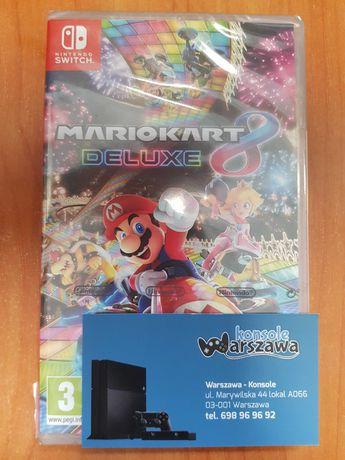 Mario Kart 8 Deluxe Nintendo Switch Wyścigi 4 osoby Sklep Wysyłka NOWA