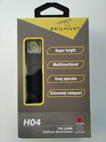 Универсальный налобный фонарь SKILHUNT H04 CW T.I.R. оптика.