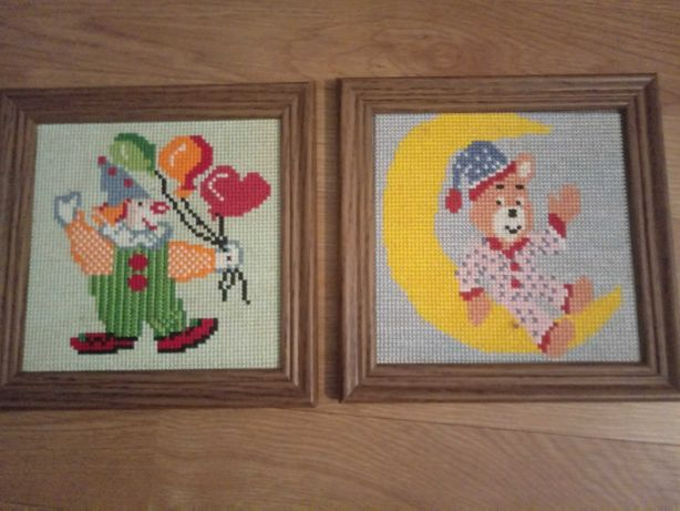 Obrazki kolekcja haftowana