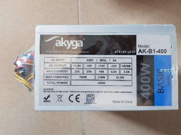 NOWY zasilacz ATX 400W 20+4pin 3sata 2hdd